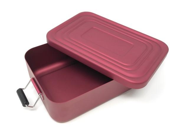 Rominox Lunchbox Vesperdose matt rot mit Gravur
