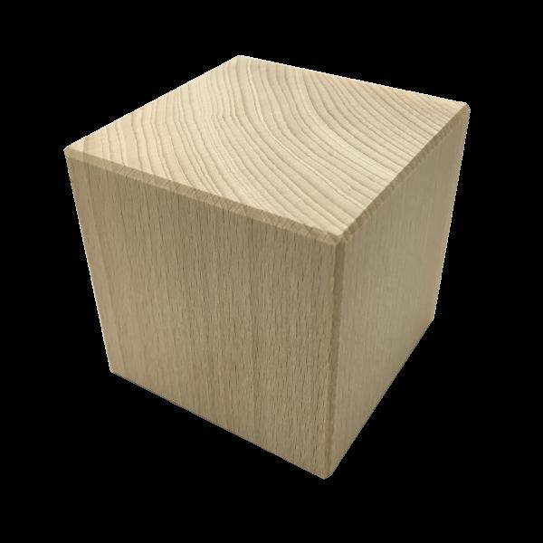 50mm massiver Holzwürfel mit Gravur
