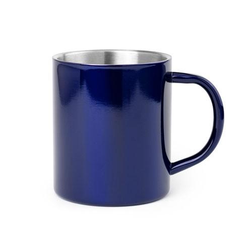 Edelstahlbecher blau