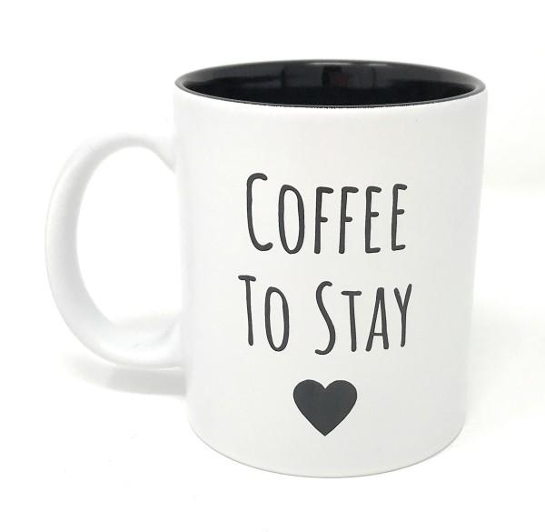 Kaffee Tasse Weiss Schwarz Coffee To Stay