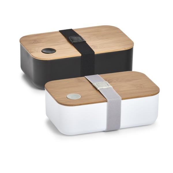 Lunchbox Kunststoff mit Bambusdeckel