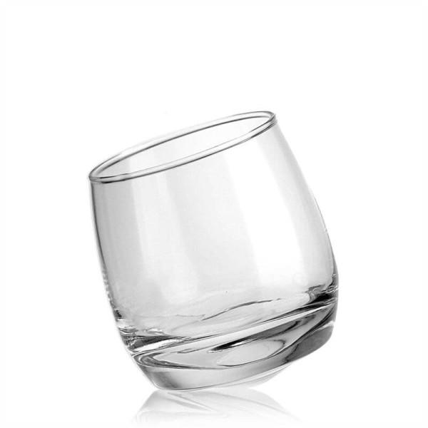 Whiskey / Trinkglas schräger Boden mit Gravur