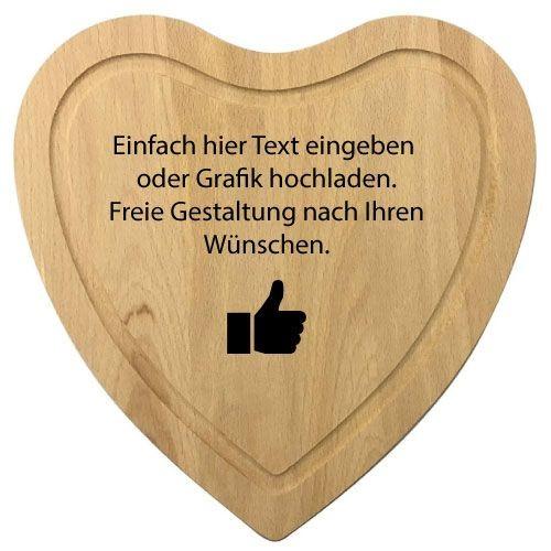 Holz Herzbrett online gestalten