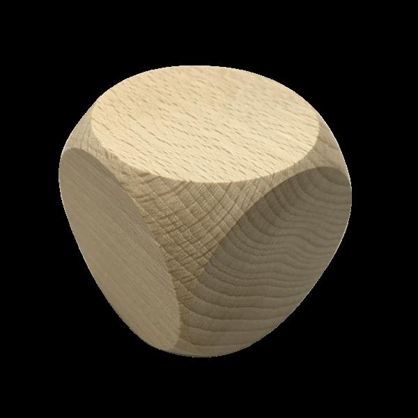 80mm Holzwürfel unbehandelt mit Gravur - massiv