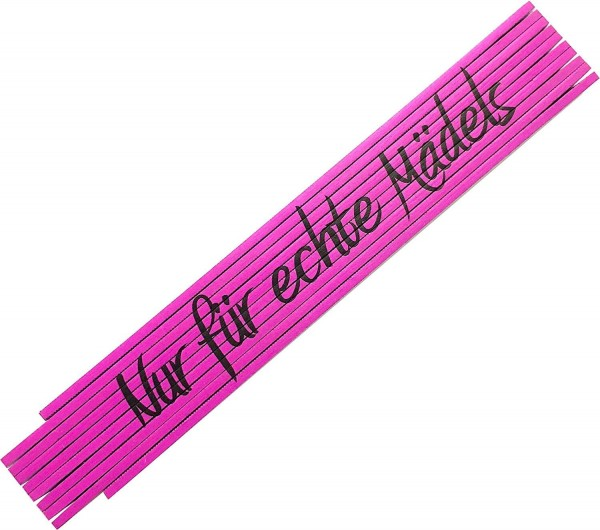 2m Zollstock mit Druck: Nur für echte Mädels in pink