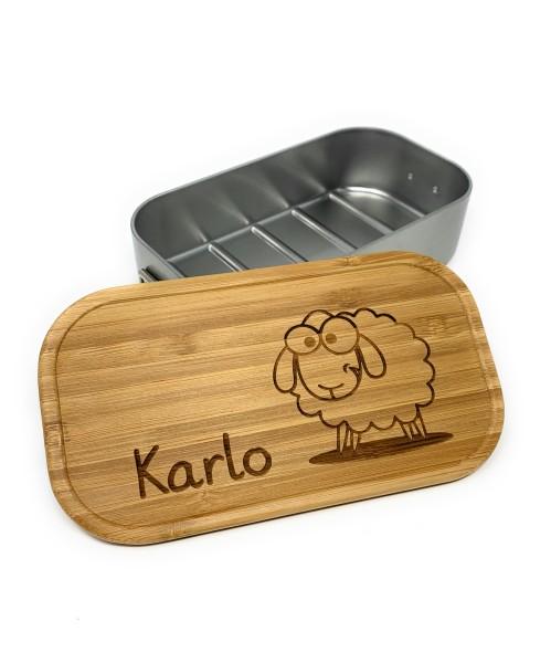 Lunchbox Bamboo XL oder Klein mit Gravur