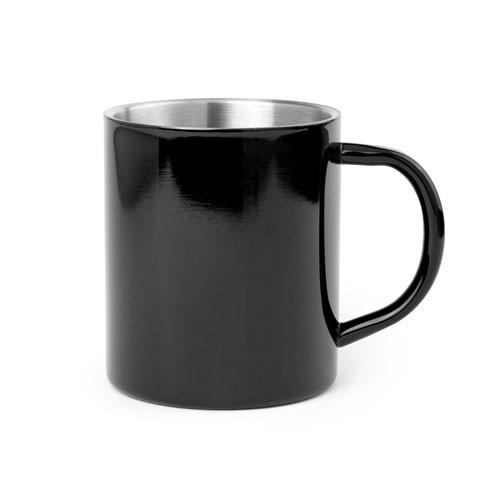 Edelstahlbecher schwarz