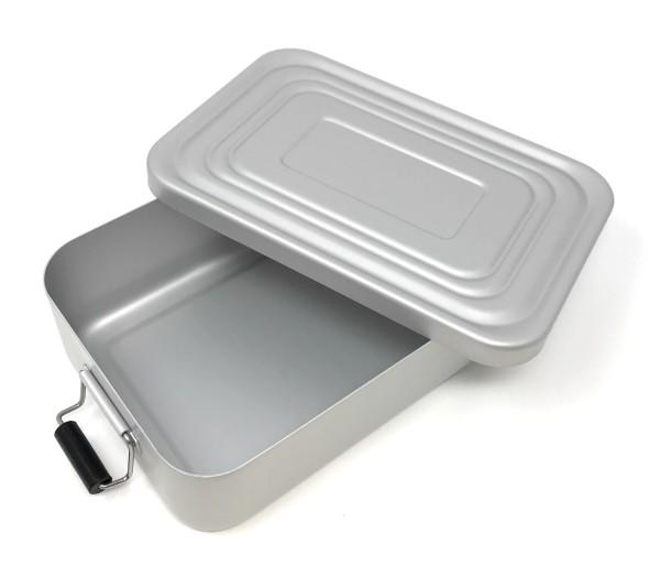 Rominox Lunchbox Vesperdose matt silber mit Gravur