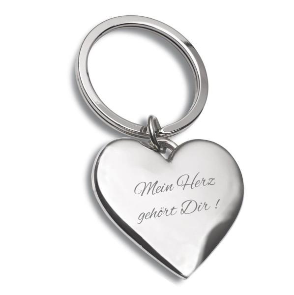 Schlüsselanhänger Herz Silber Mein Herz gehört dir