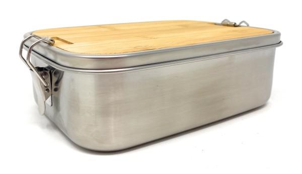 Lunchbox Edelstahl Bambus Elegance Gravur